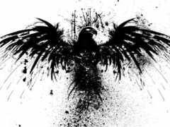 black, татуировка, птица