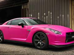 nissan, автомобили, розовый