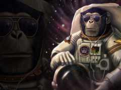 fondos, astronauta, pantalla