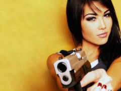 девушка, name, пистолет