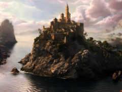 castle, fantasy, skyrim
