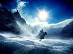 зима, горы Фон № 19681 разрешение 1920x1200