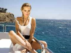 яхта, девушка, лодка