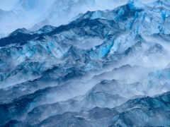 лед, mountainous landforms, синий