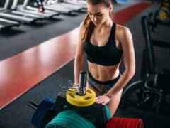 фитнес, тонкий, спортсменка