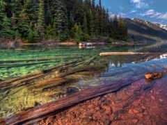озеро, чистое, кристально