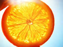 плод, сочный, оранжевый