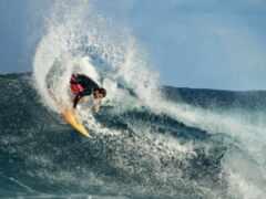 surfboard, волна, surfer
