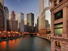 chicago, город, смарт