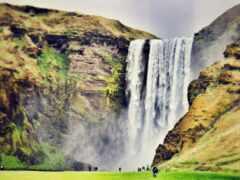 водопад, human, iceland