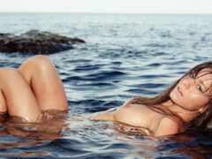 raisa, lily, swimming