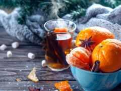 new, tangerine, christmas