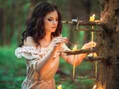 свеча, настроение, devushka