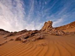 пустыня, египетский, песок