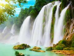 фотообои, водопад, водный