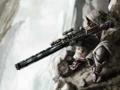 снайпер, game, artwork