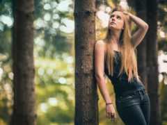 джинсы, девушка, portrait