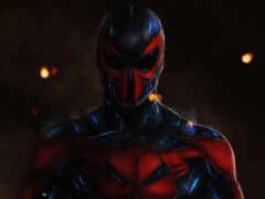 мужчина, spiderman, artwork