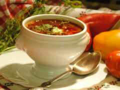 борщ, piala, суп