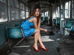 модель, kobiety, поезд