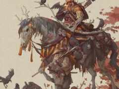 самурай, рисованный, art