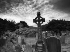 кладбище, ночь