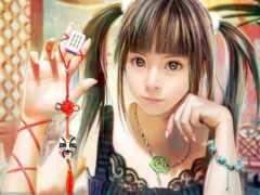японские, девушка, anime