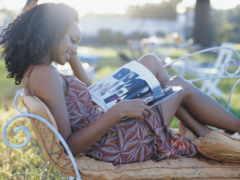 девушка, читает, log