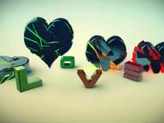 зеленый, сердце