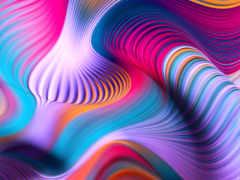 parede, colorido, волна