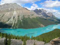 гора, фотообои, озеро