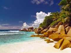 seishelyi, остров, пляж