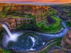 водопад, falls, palouse