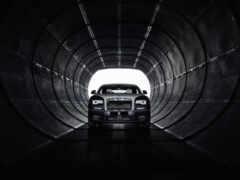 rolls-royce phantom viii, черный, туннель