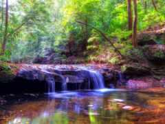 скинали, природа, водопад
