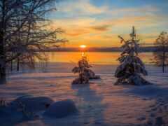 снег, zima, zakat
