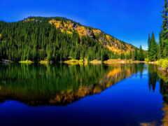 озеро, landscape, гора