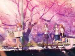 anime, Сакура, цветущая