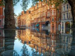 london, отражение, water