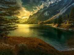 озеро, human, gosau