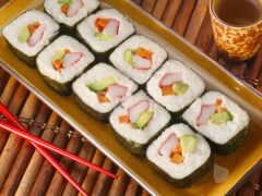 dry, булка, sushi