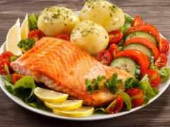 salmon, блюдо, блюда