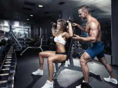 тренировки, зале, фитнес