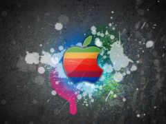 apple в кляксах и царапинах