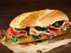 бутерброд, назад, багет