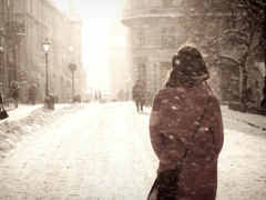 без, лица, зимой