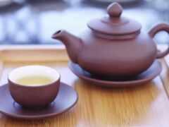 cup, чая, чайник