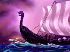 viking, корабль, norse