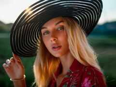 женщина, pretty, шляпа