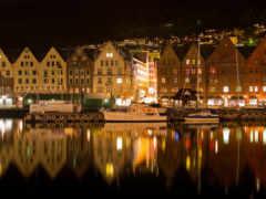 город, ночь, море